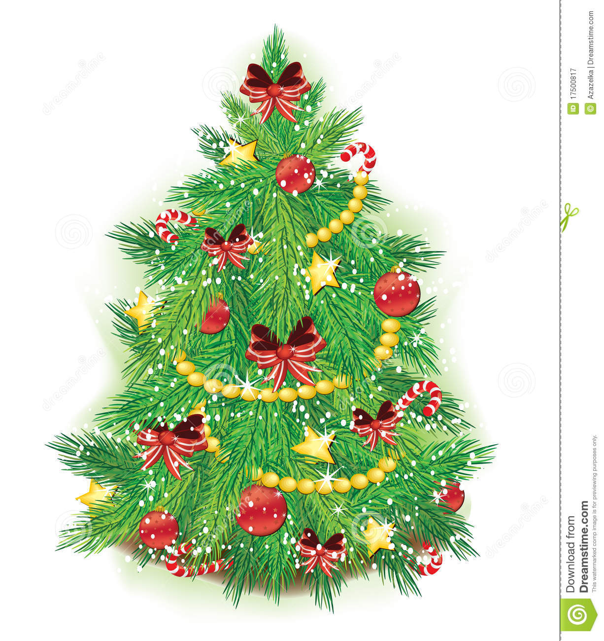 Xmas tree stock illustration. Illustration of festive ...