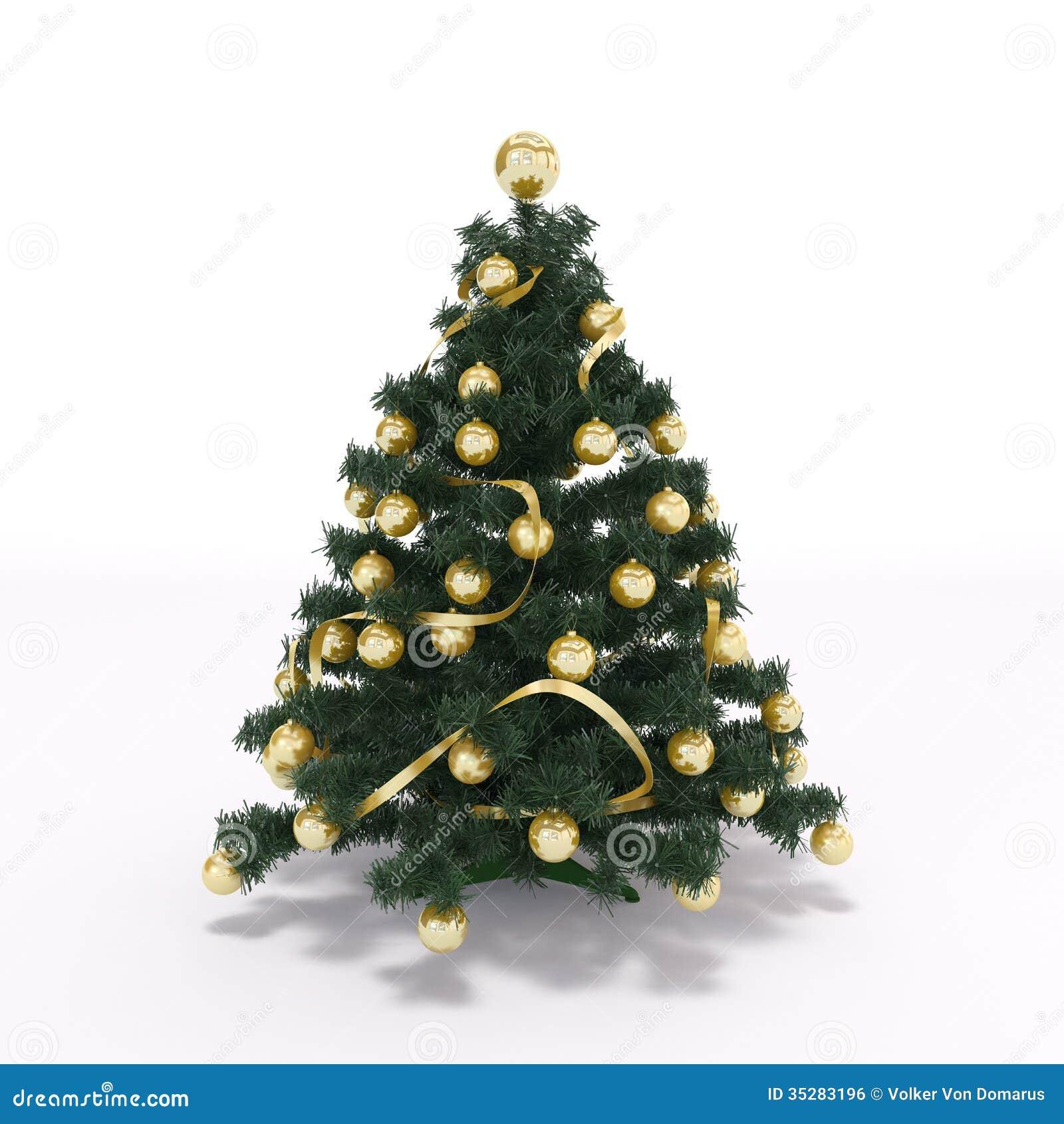 Xmas tree royalty free stock image image 35283196 for Decoration 3d free