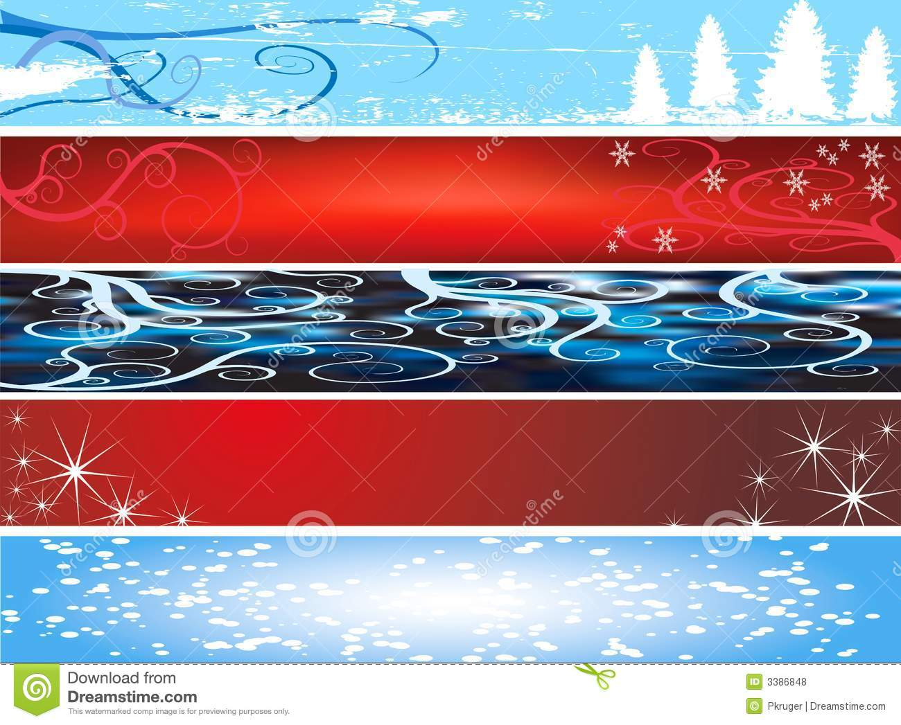 Xmas Website Banners Royalty Free Stock Photos Image