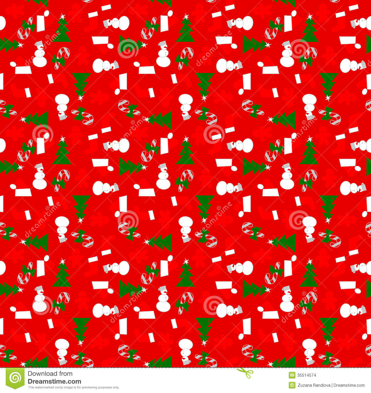 Xmas Wrapping Paper Christmas Elements Background