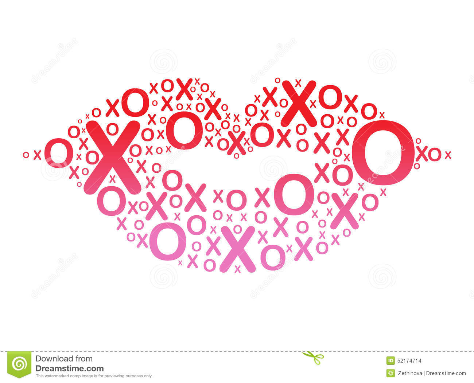 XOXO Lips Stock Illustration