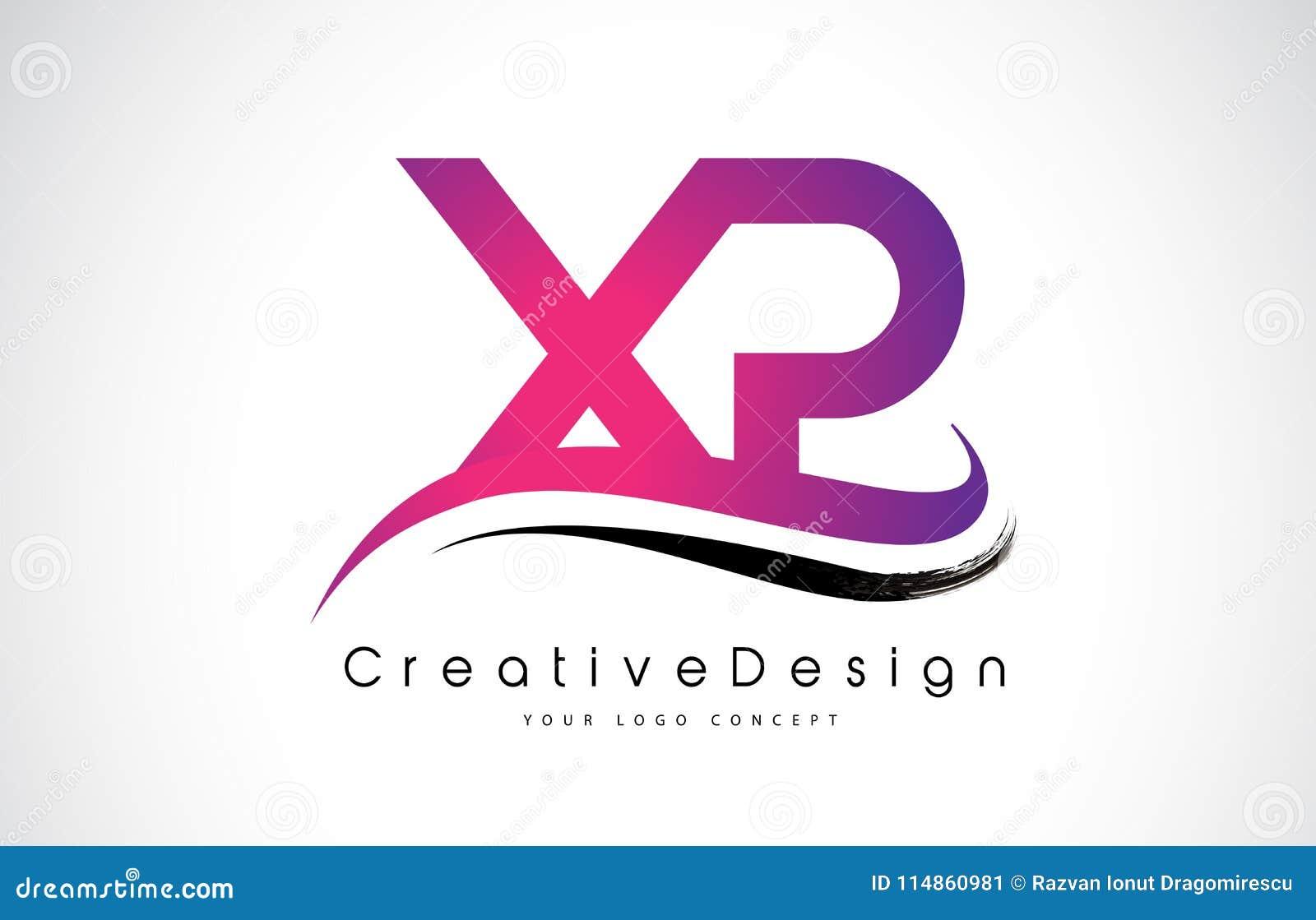 XP X P Letter Logo Design. Creative Icon Modern Letters Vector L ...