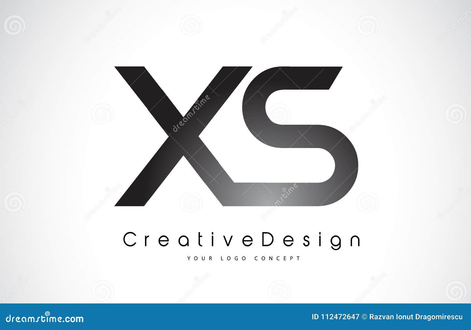 xs x s letter logo design creative icon modern letters vector l