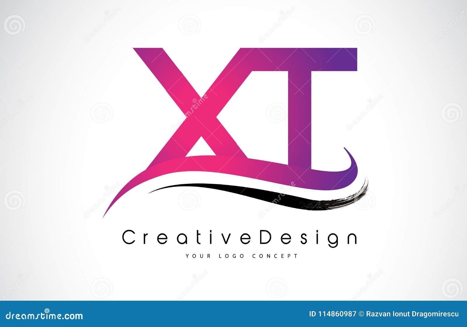 XT X T Letter Logo Design. Creative Icon Modern Letters Vector L ...