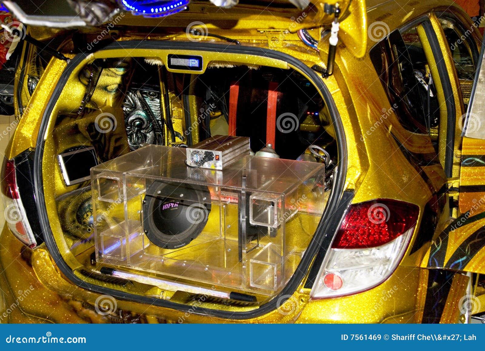 Xtreme Auto Musik System Redaktionelles Stockbild Bild