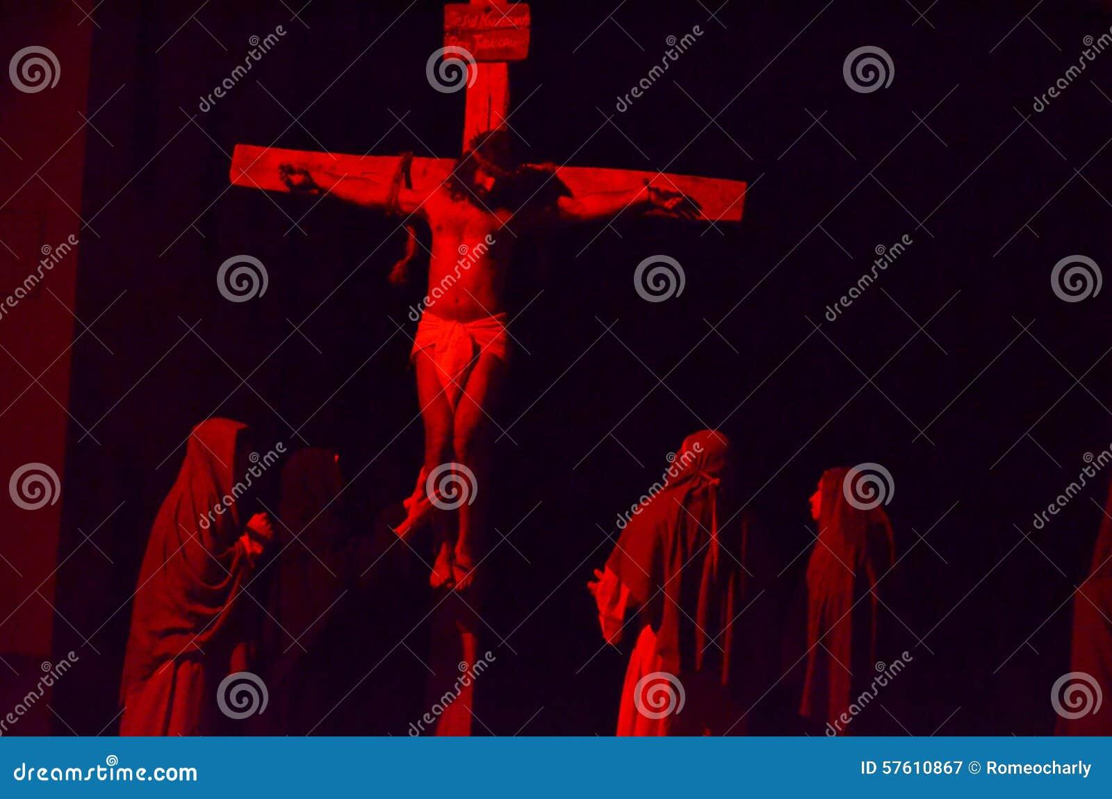 Download XXVIII Edizione Antignano Via Crucis Fotografia Editoriale - Immagine di commemoration, caratteri: 57610867