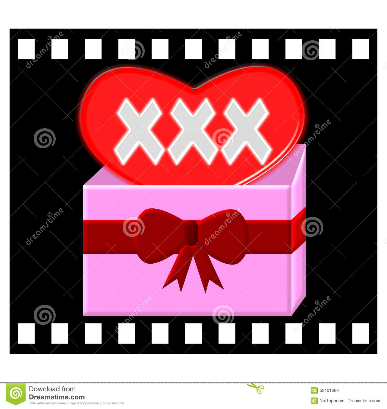 Xxx gift box symbol in movie film illustration stock illustration xxx gift box symbol in movie film illustration biocorpaavc