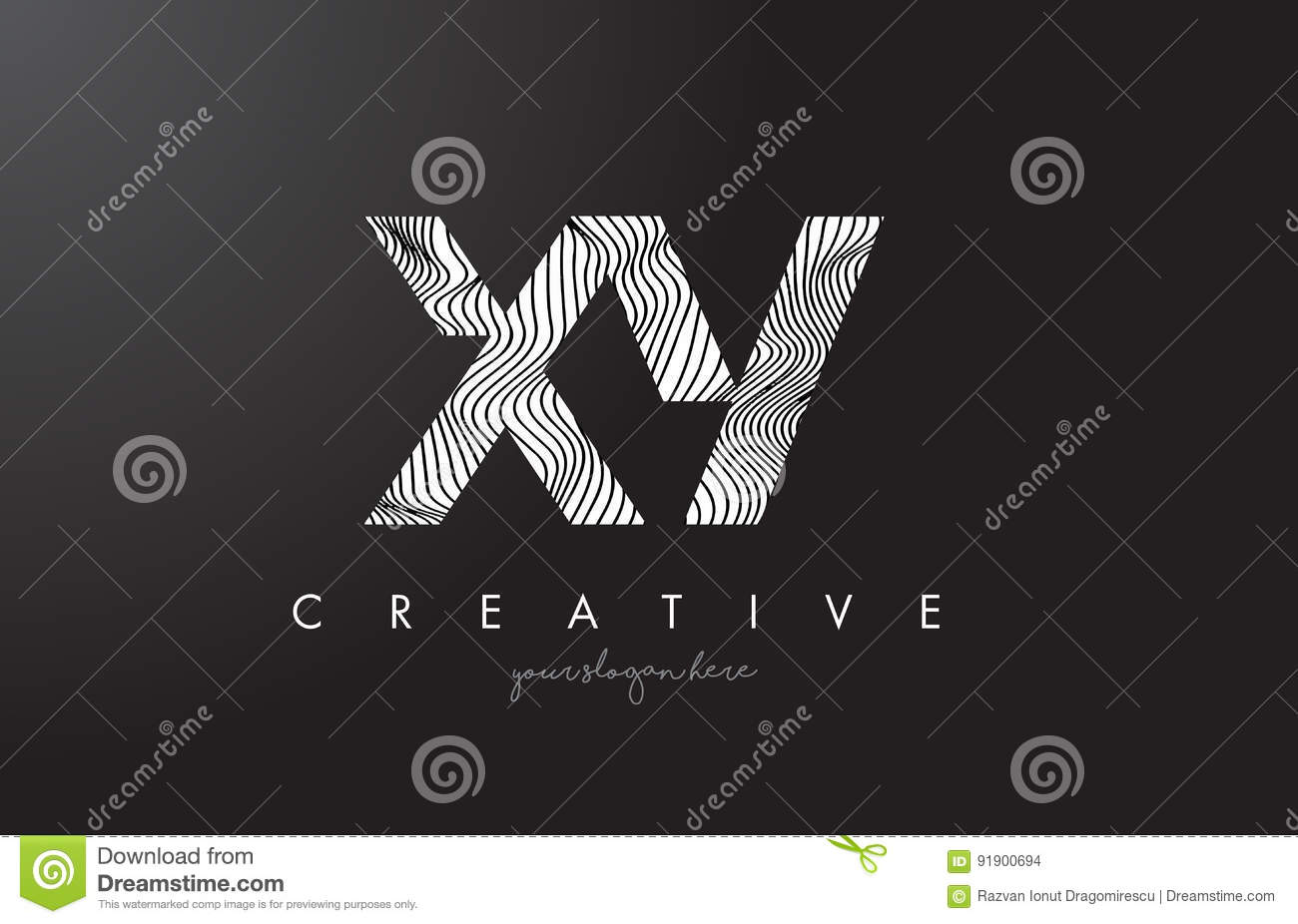 xy x y black and white lines letter logo design vector illustration 93518808. Black Bedroom Furniture Sets. Home Design Ideas
