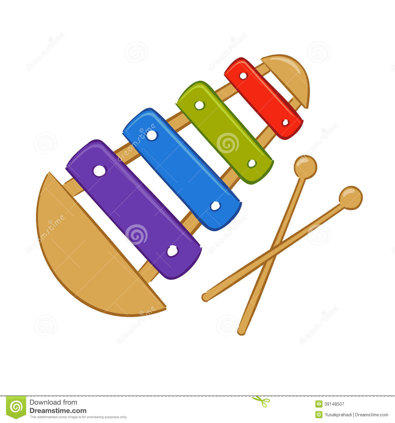 Xylophone Cartoon Stock Vector - Image: 39148507