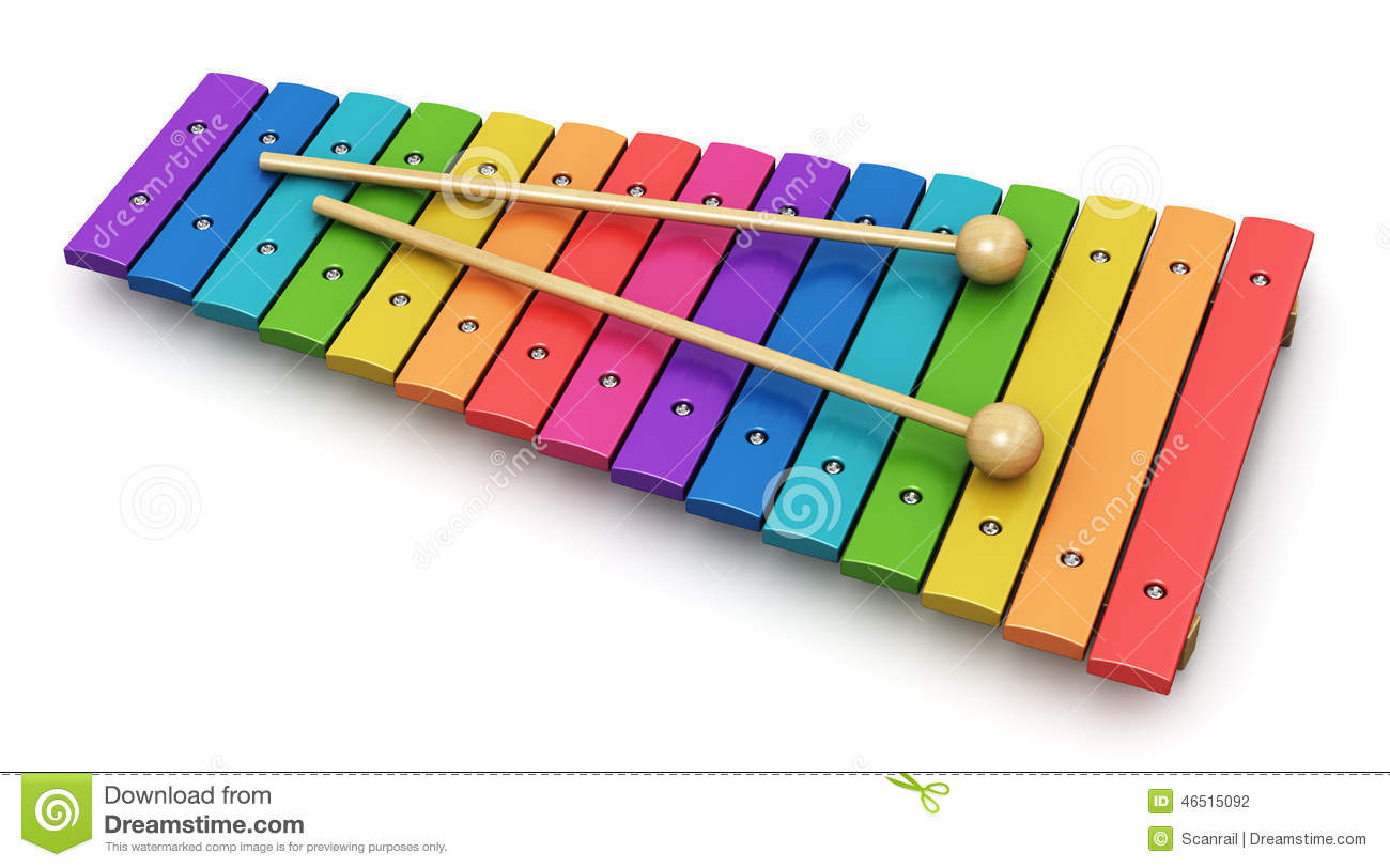 Creative abstract percussion musical instrument and music art creation ...