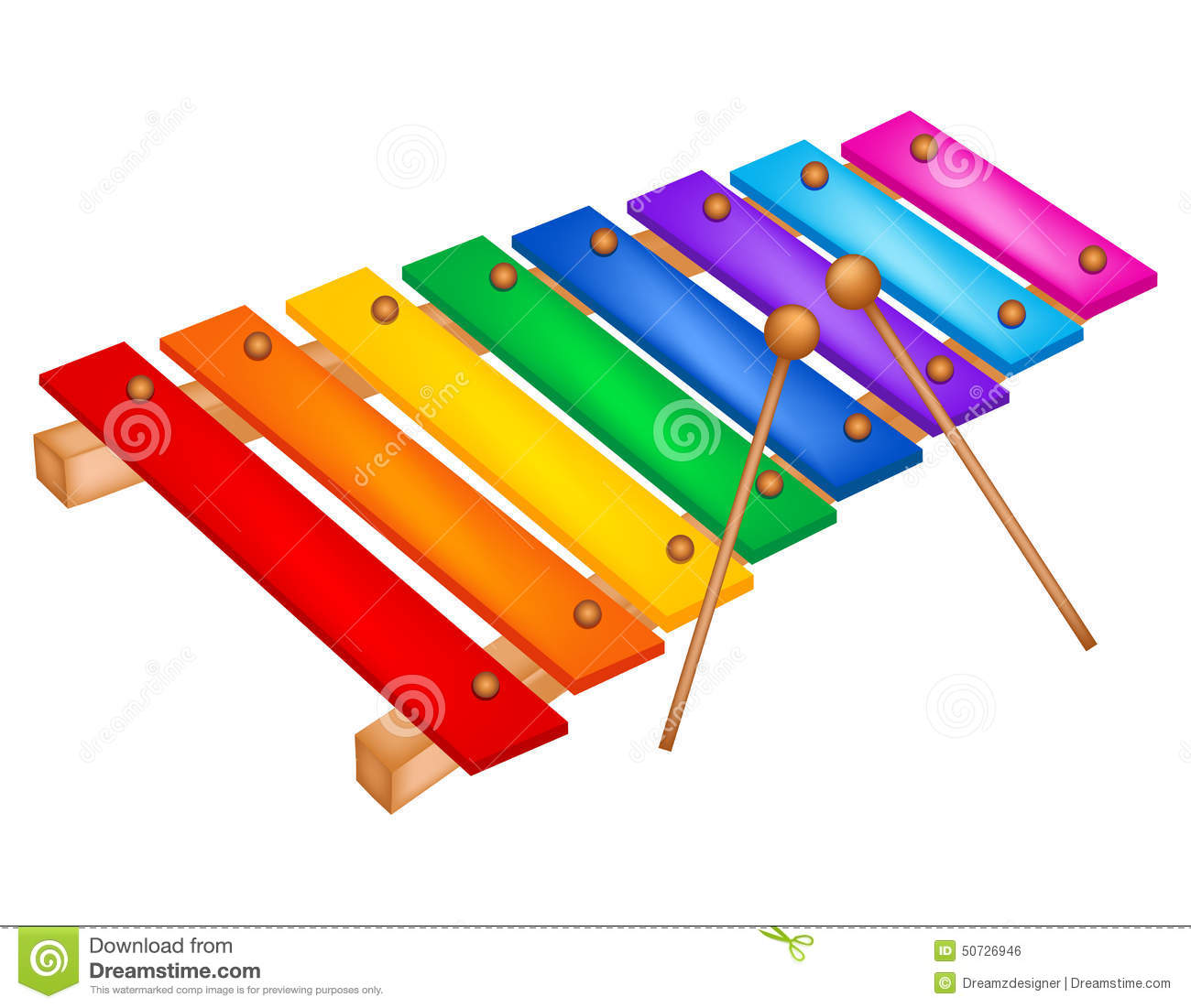 Xylophone stock vector. Image of drawing, isolated, mallet ...