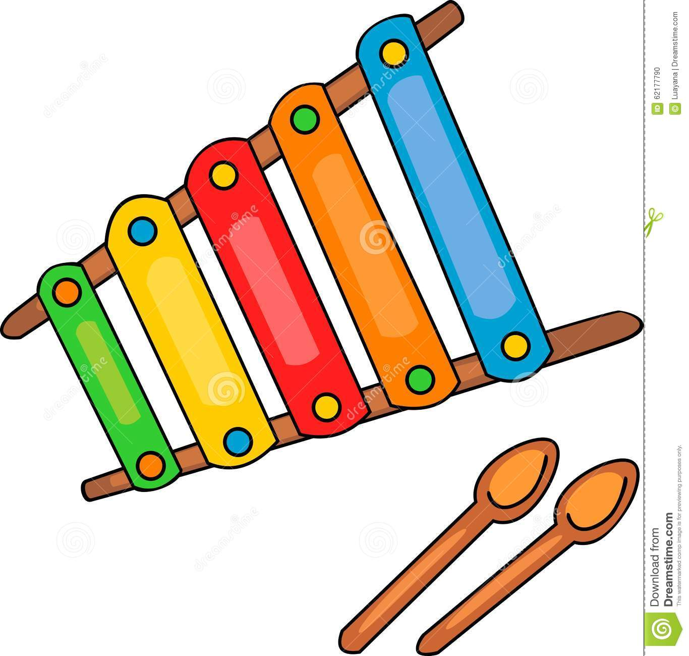 Xylophone stock vector. Illustration of cartoon, white ...