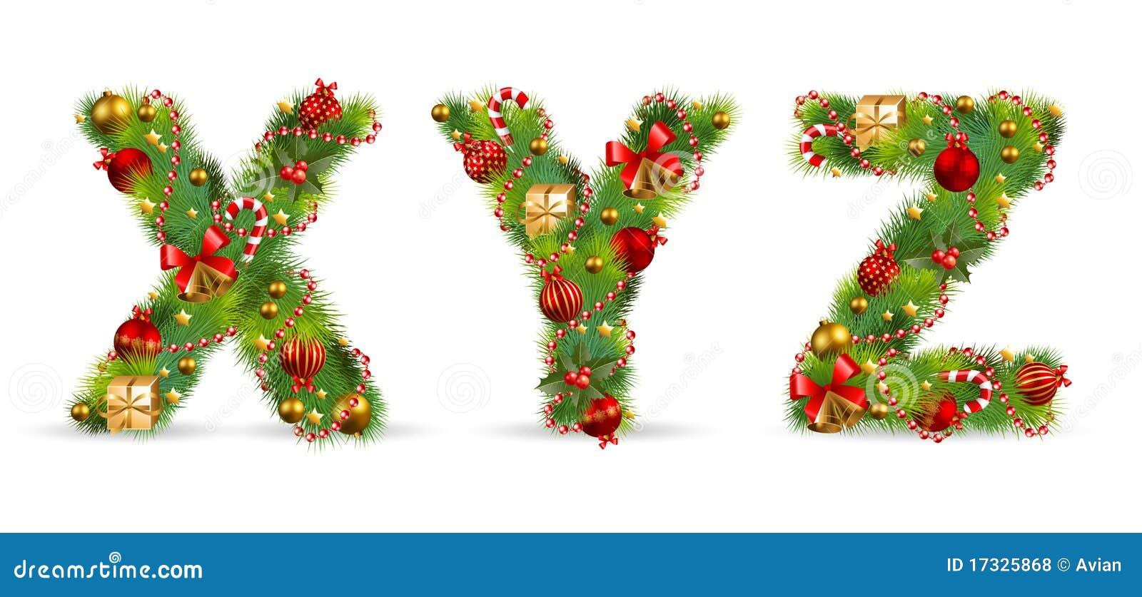 XYZ, Christmas Tree Font Royalty Free Stock Photos - Image: 17325868
