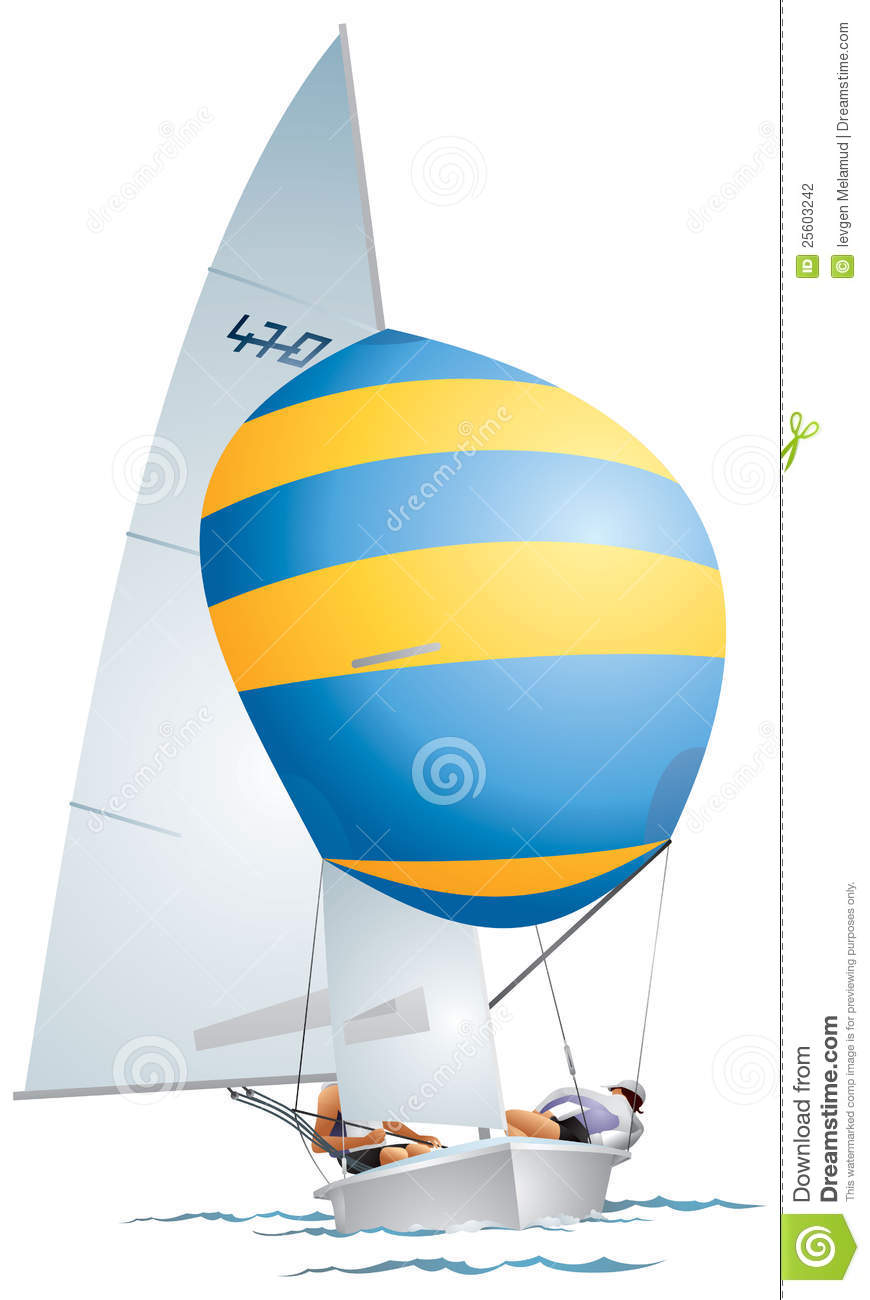 Yacht 470-class Dinghy Stock Photography - Image: 25603242