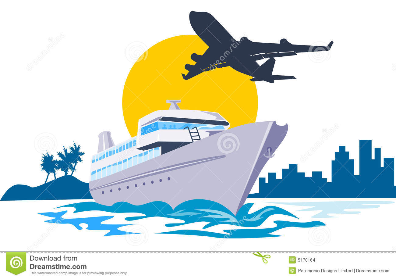 Yacht With Airplane Flying Stock Images Image 5170164