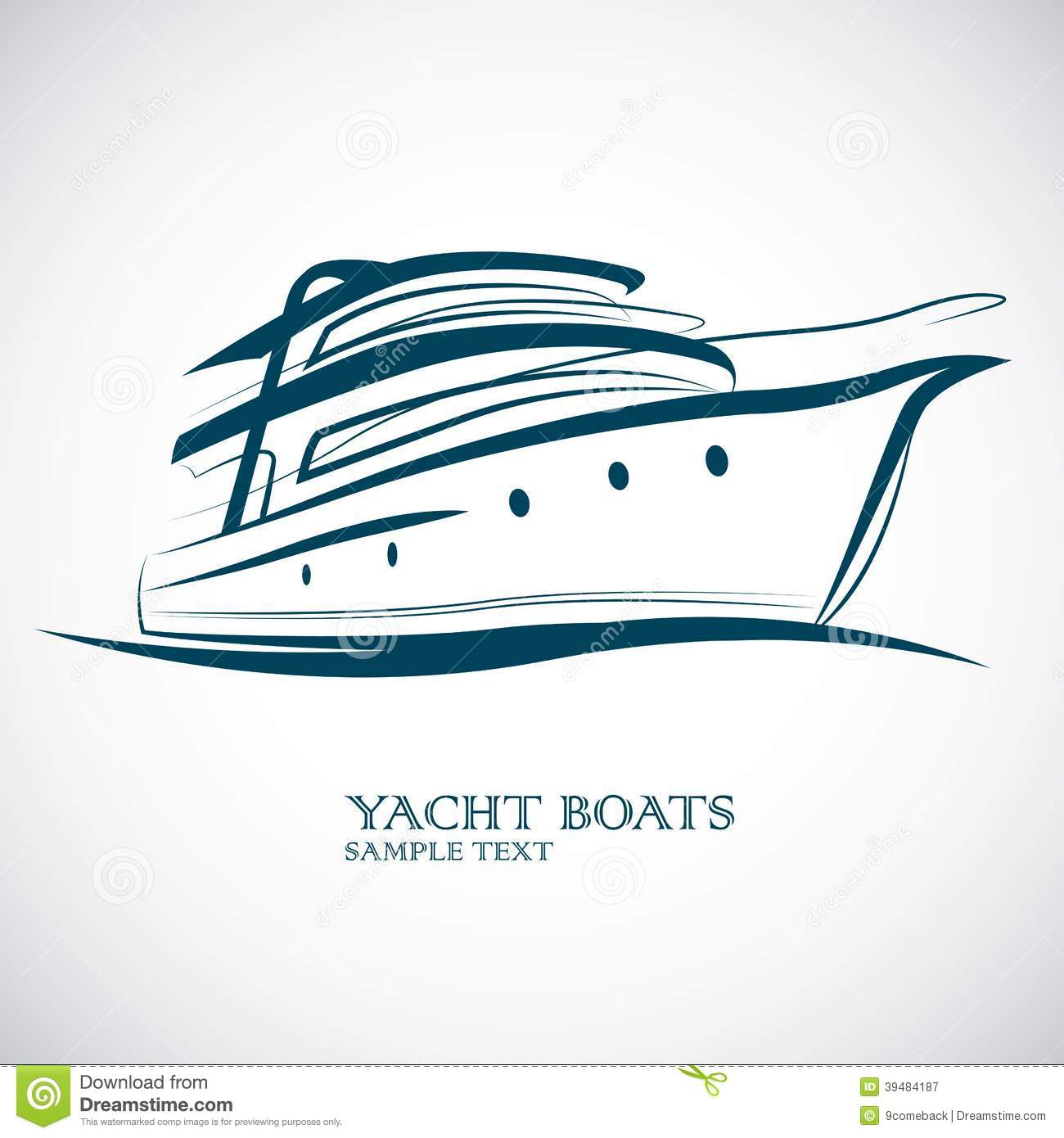 Yacht Boat Stock Vector - Image: 39484187