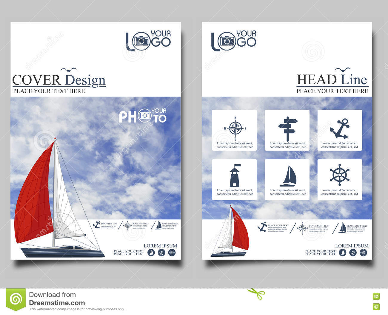 Yacht club flyer design template stock illustration yacht club flyer design template toneelgroepblik Image collections