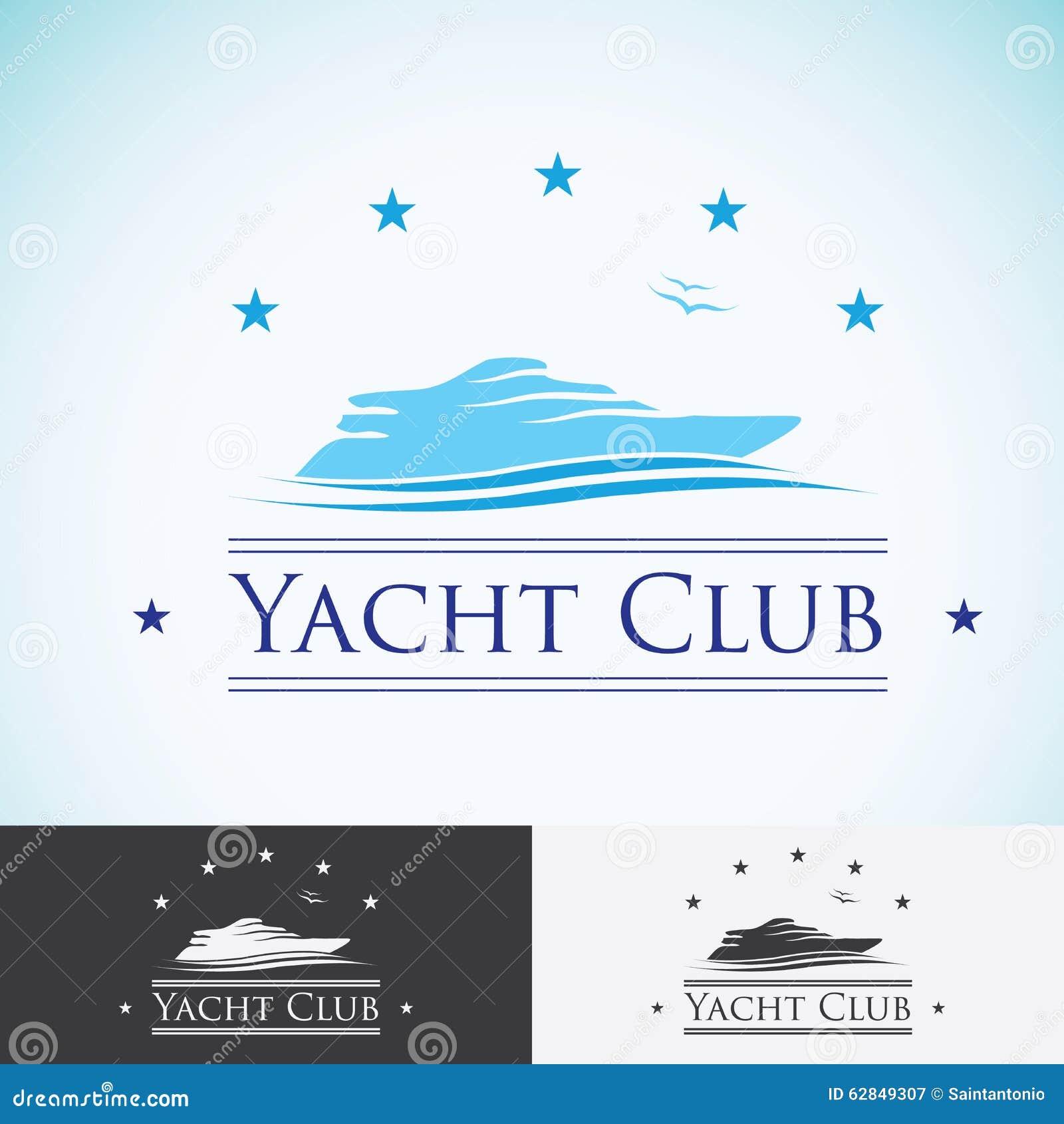 Vector  Yacht club  lo...