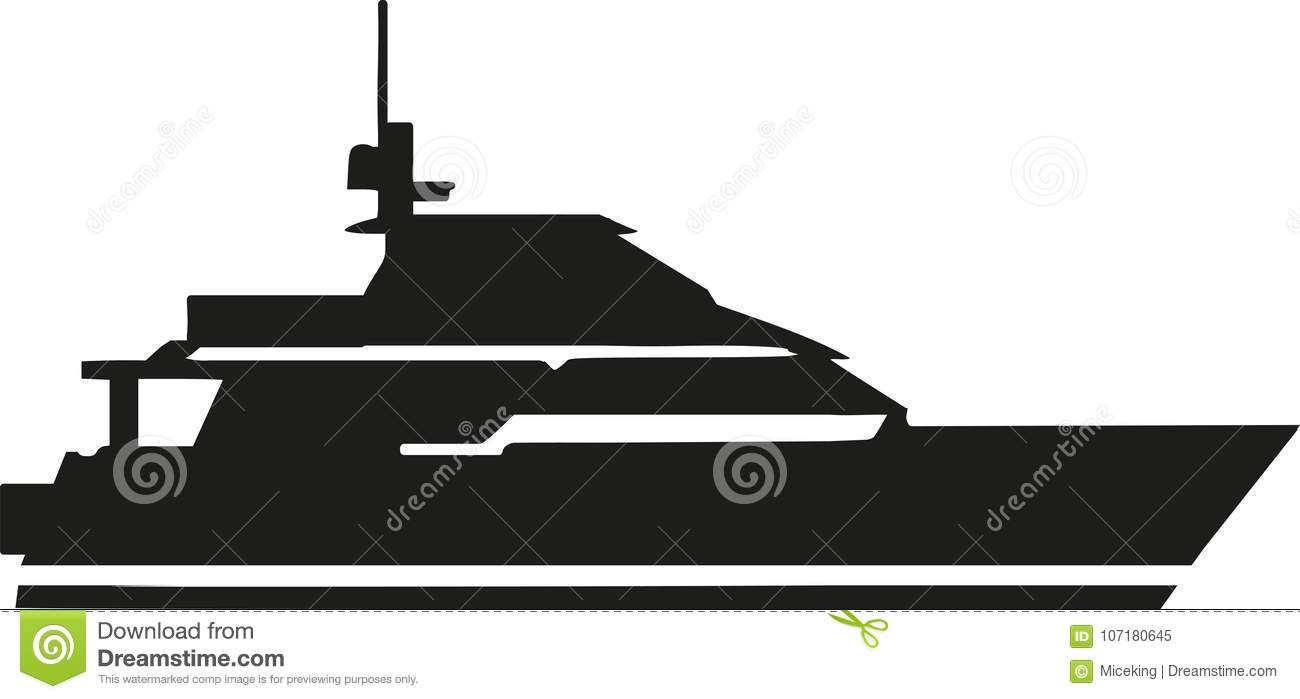 Yacht cruise silhouette stock vector  Illustration of boat