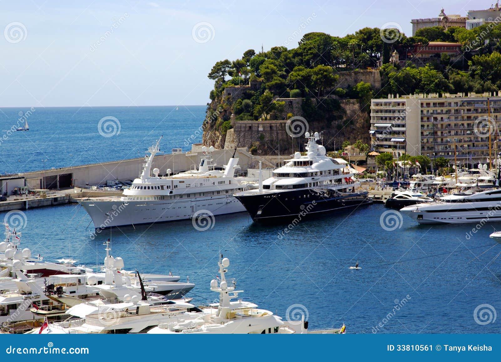 Yacht di lusso nel porto di monte carlo immagine stock for Porto montecarlo