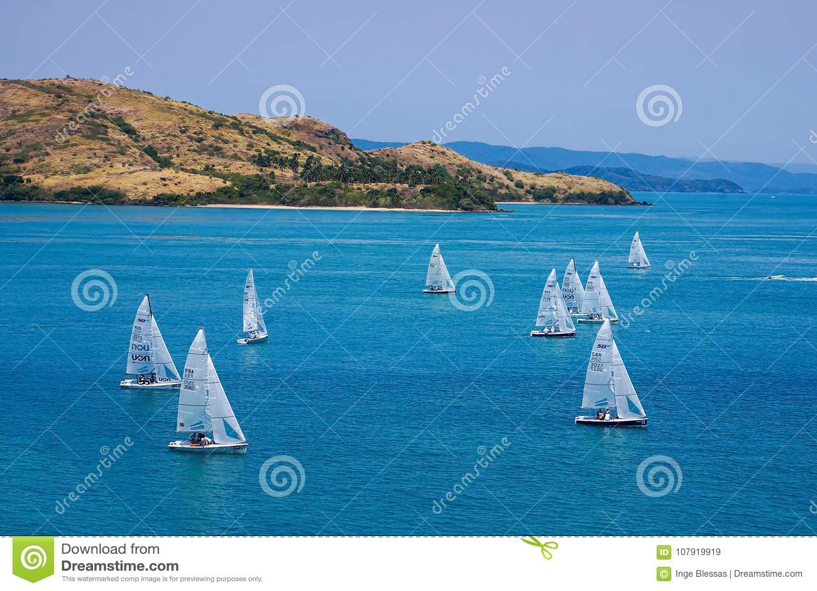 Yacht emballant chez Hamilton Island
