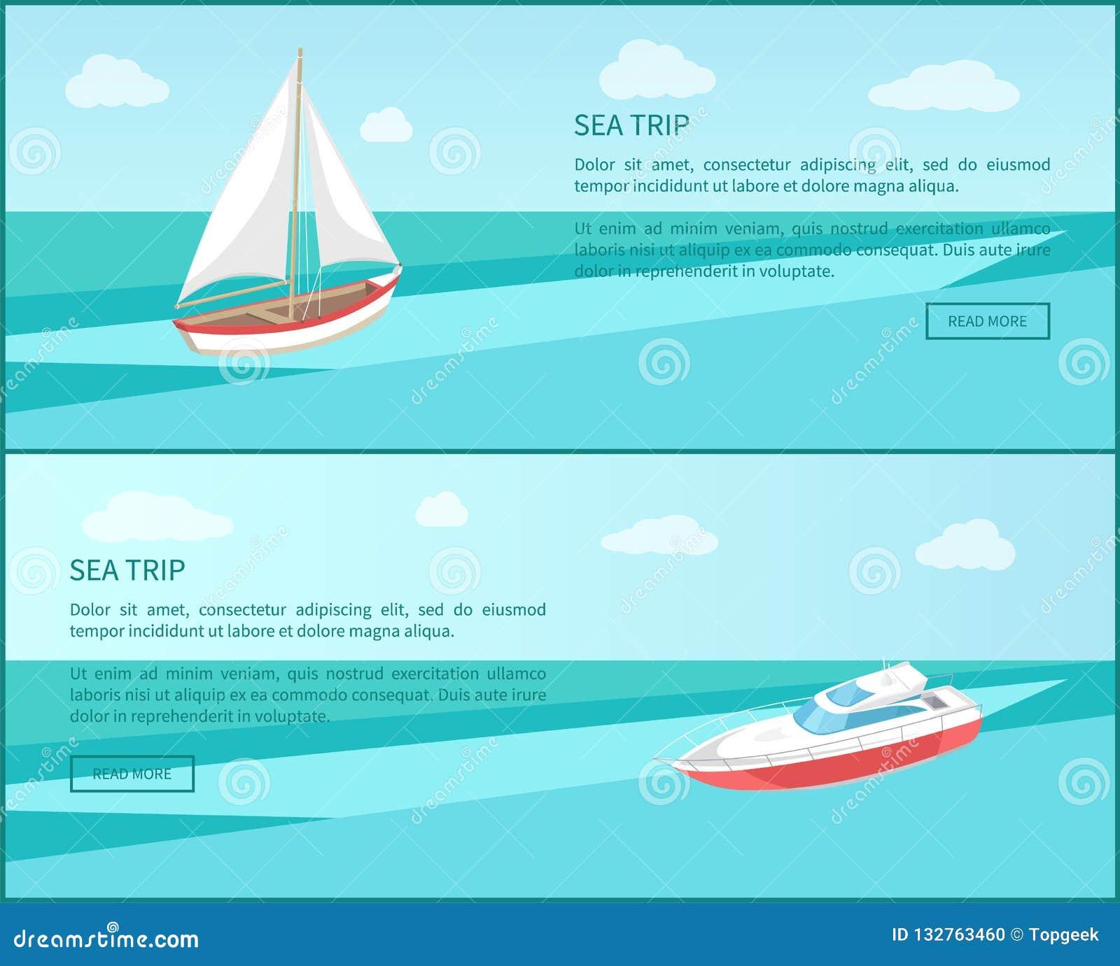 Yacht för affisch för havsturrengöringsduk modern, fartyg med kanfas