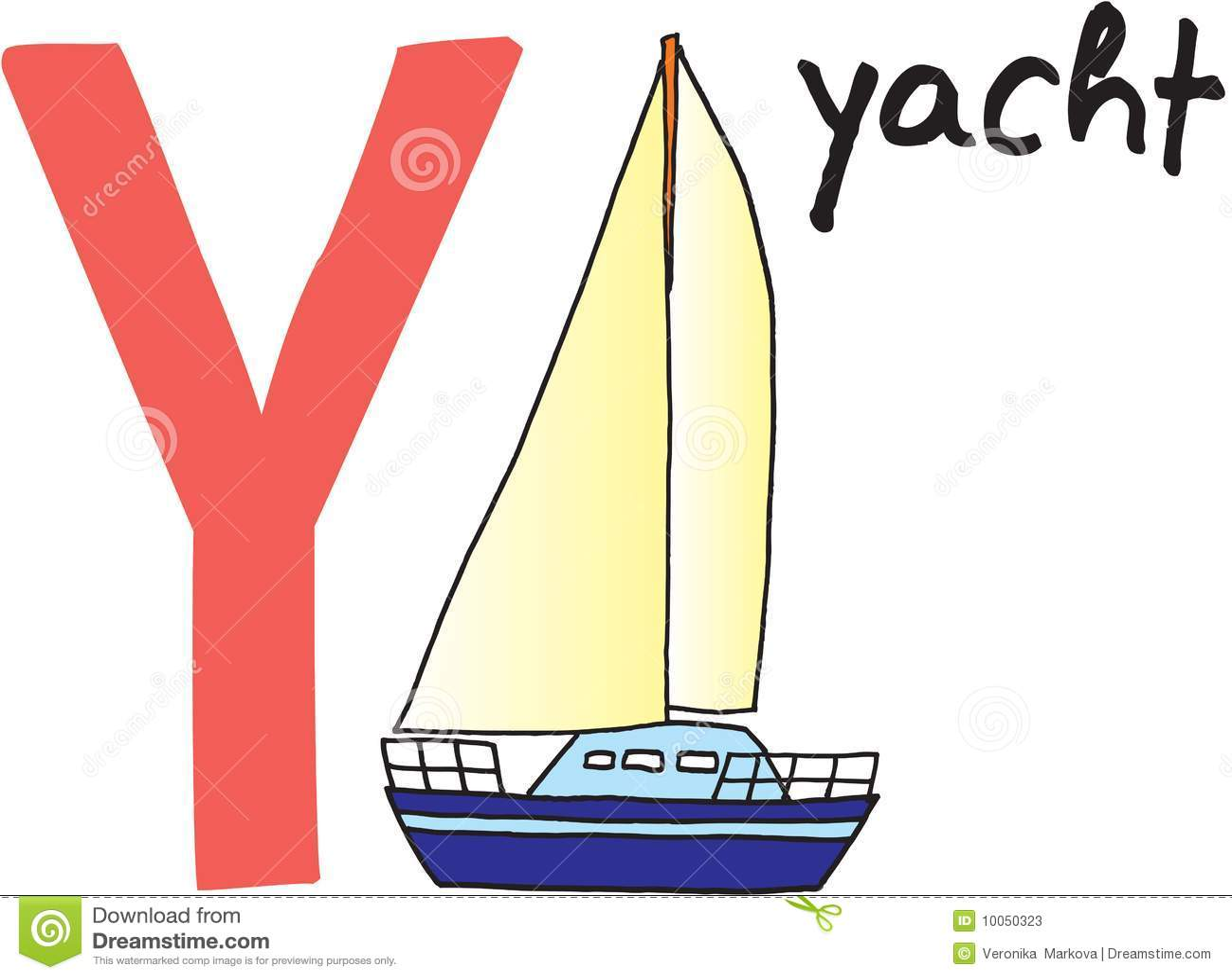Yacht för bokstav y