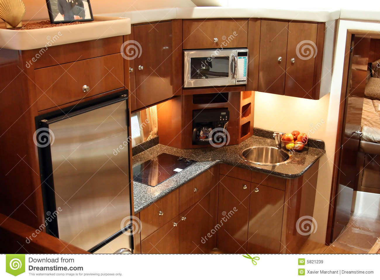 Yacht Kitchen Stock Image Of Cabin Motor