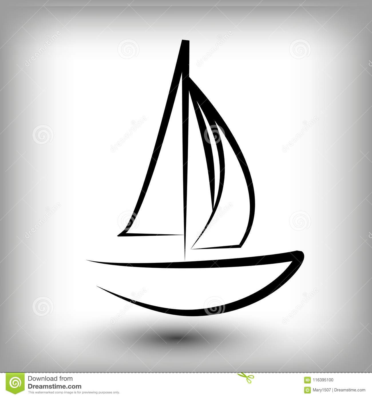 yacht logo templates sail boat silhouettes stock vector