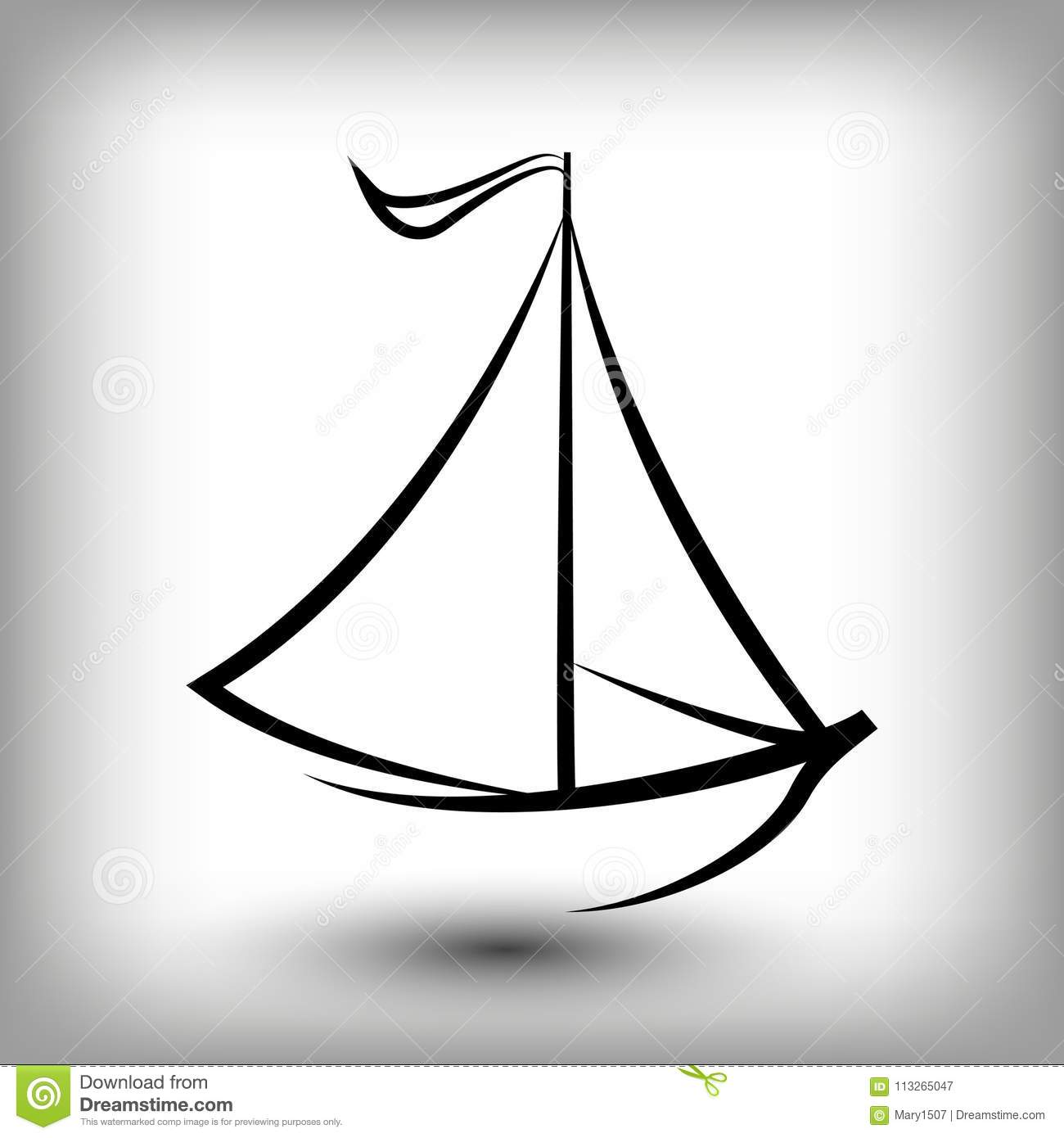 Yacht Logo Templates. Sail Boat Silhouettes. Stock Vector ...
