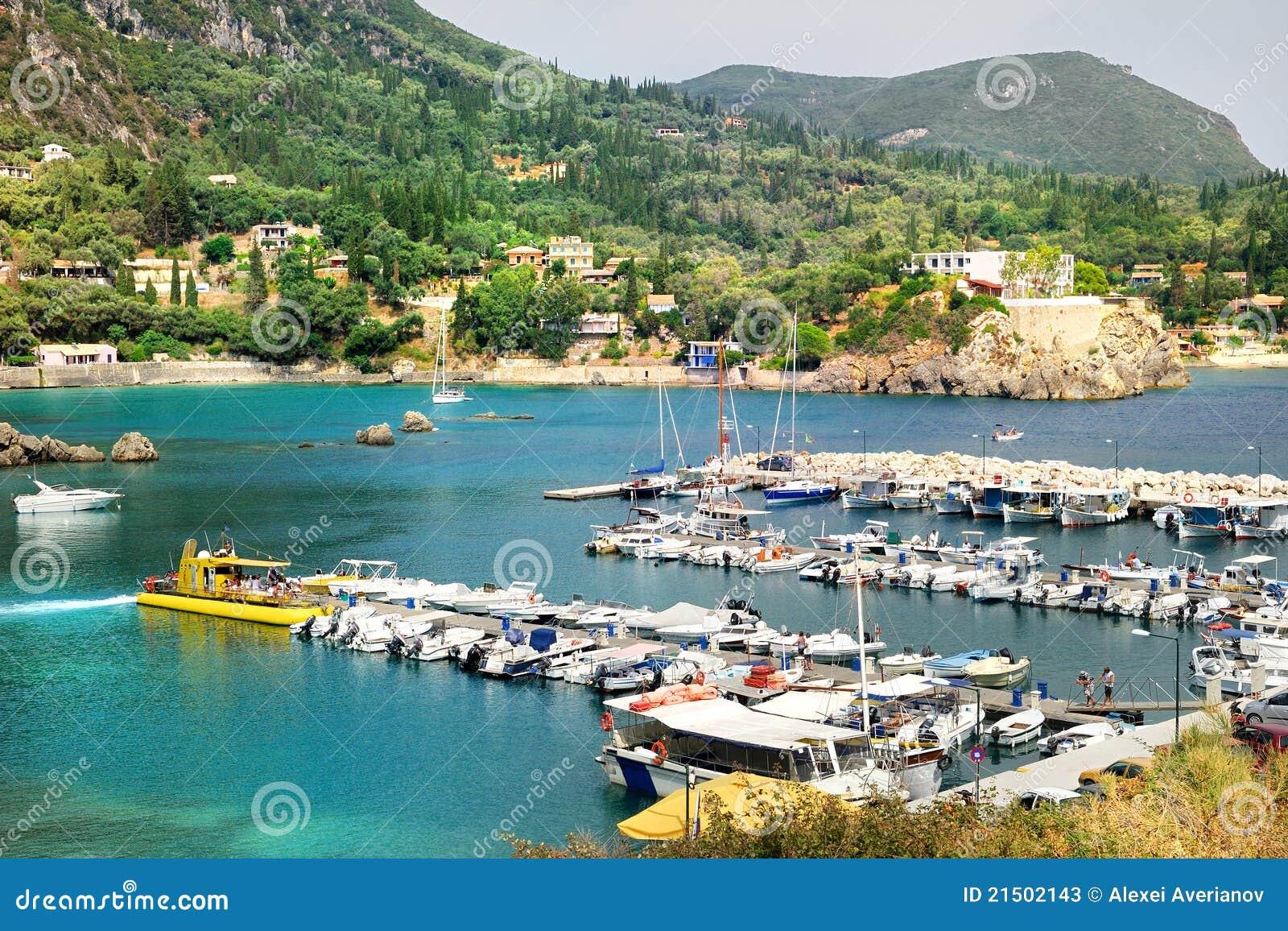 Yacht port of Paleokastritsa bay
