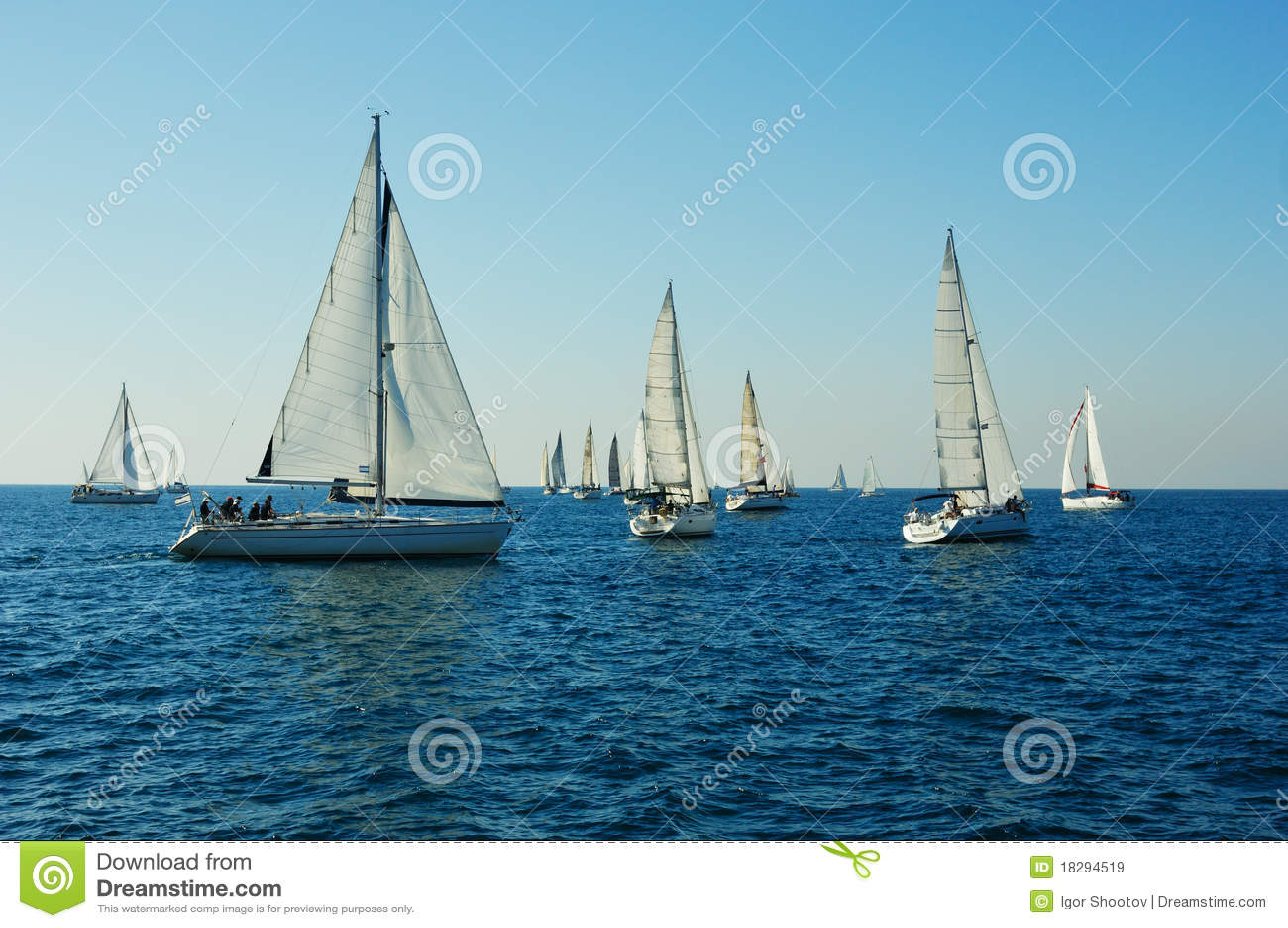 Yacht in un mare