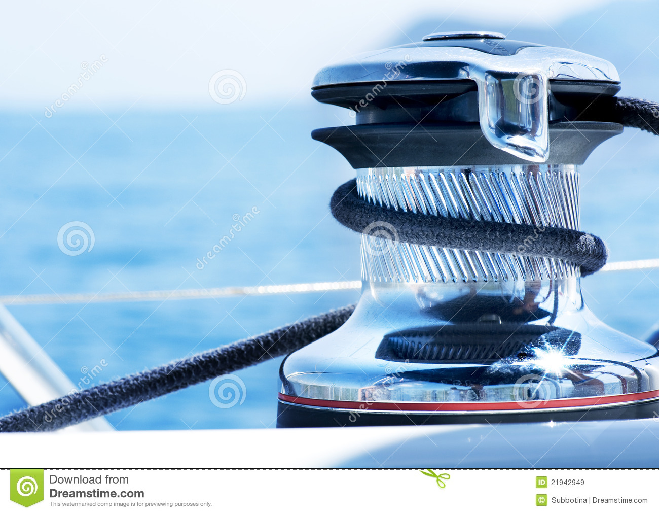 Yacht Winch Royalty Free Stock Images - Image: 21942949