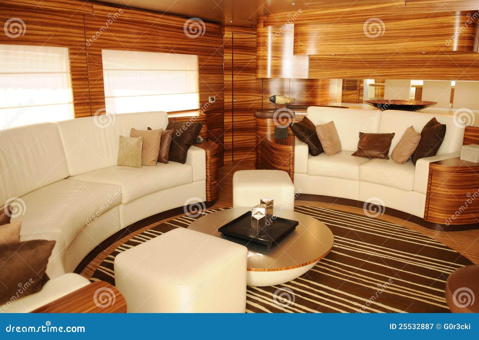 Yacht wohnzimmer lizenzfreie stockfotografie   bild: 25532887