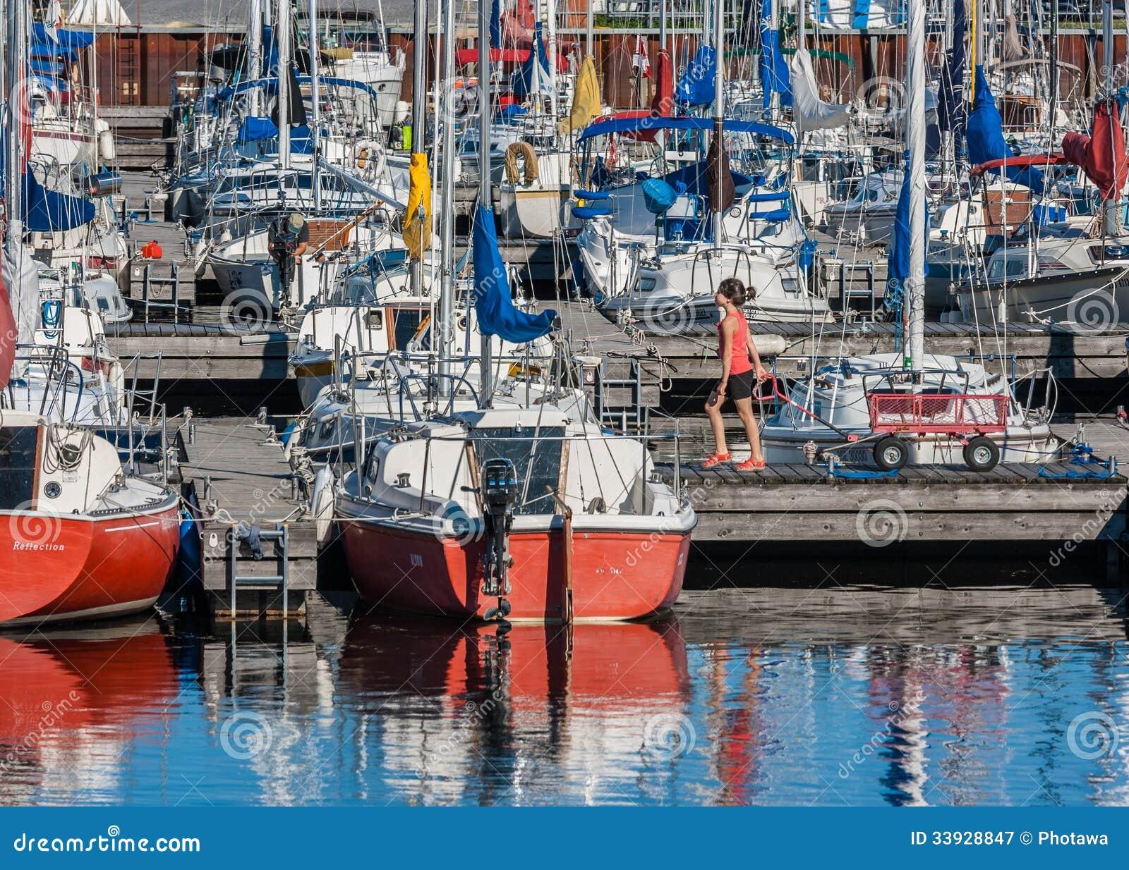 Yachten am Nepean-Segeln-Verein