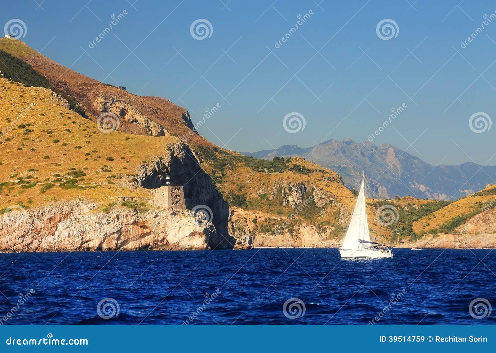 Yachting at Capri Island, Italy