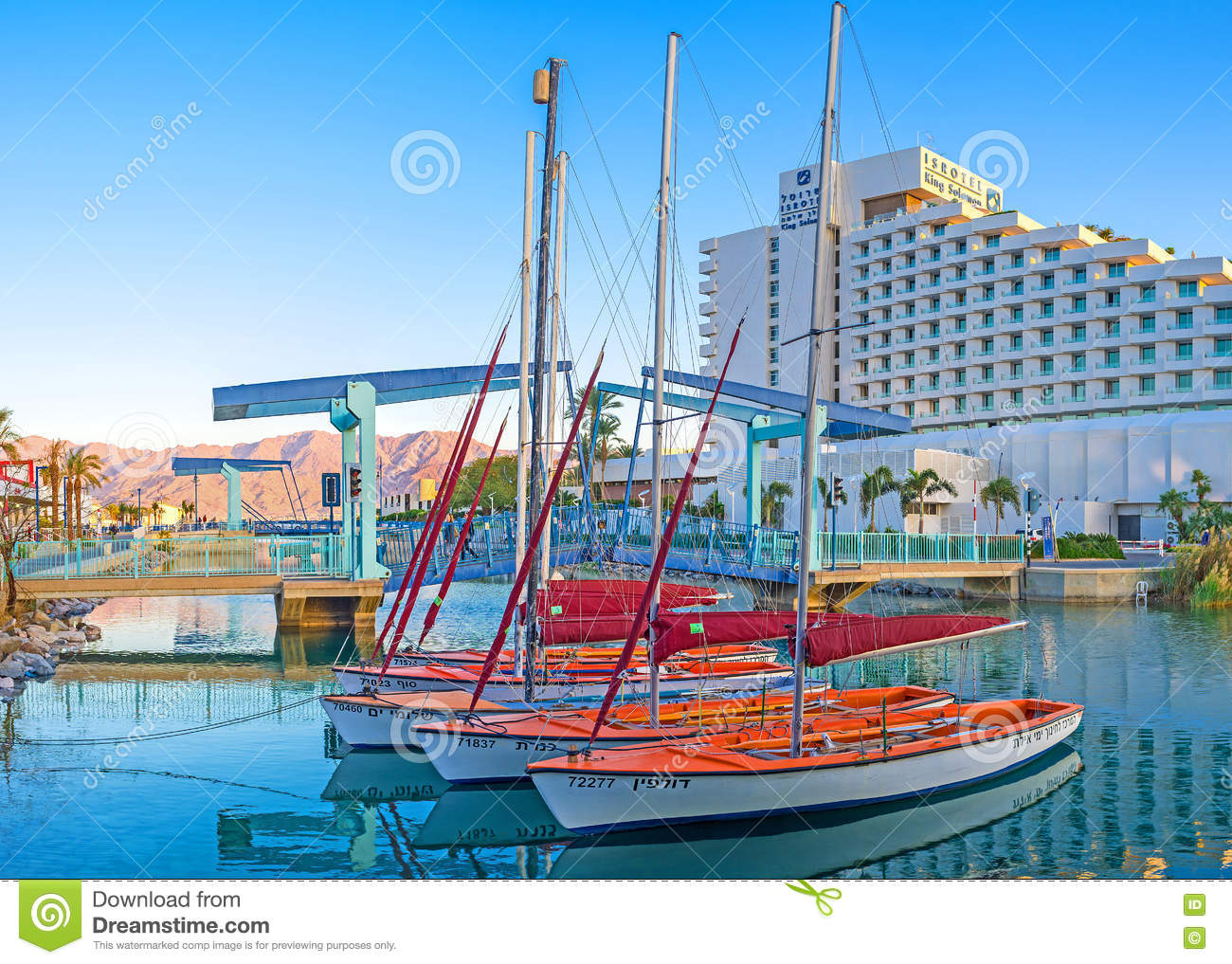 The yachting in Eilat