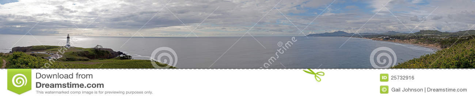 Yacquina Lighthouse panorama