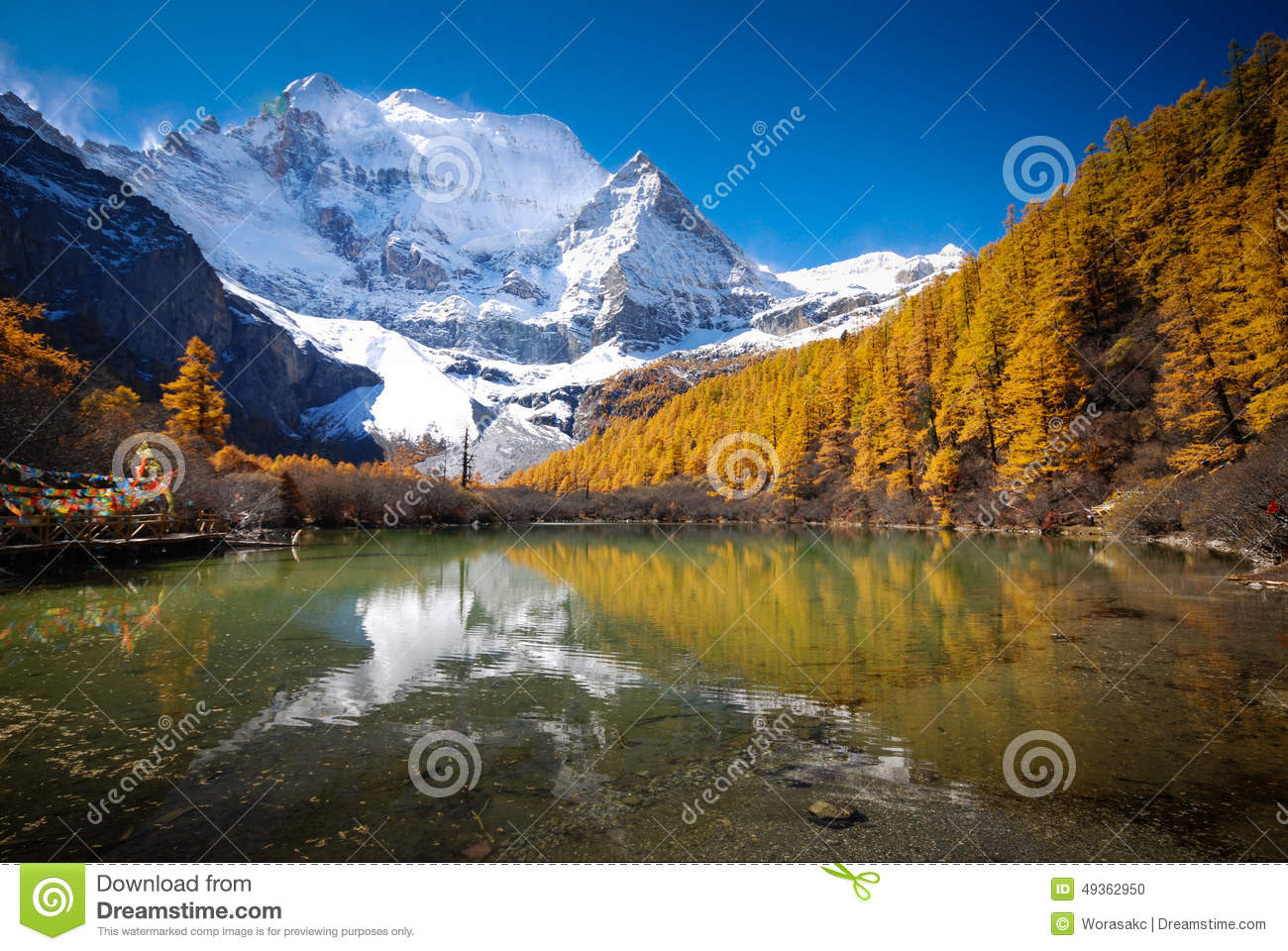 Yading Nature Reserve China Stock Photo - Image: 49362950