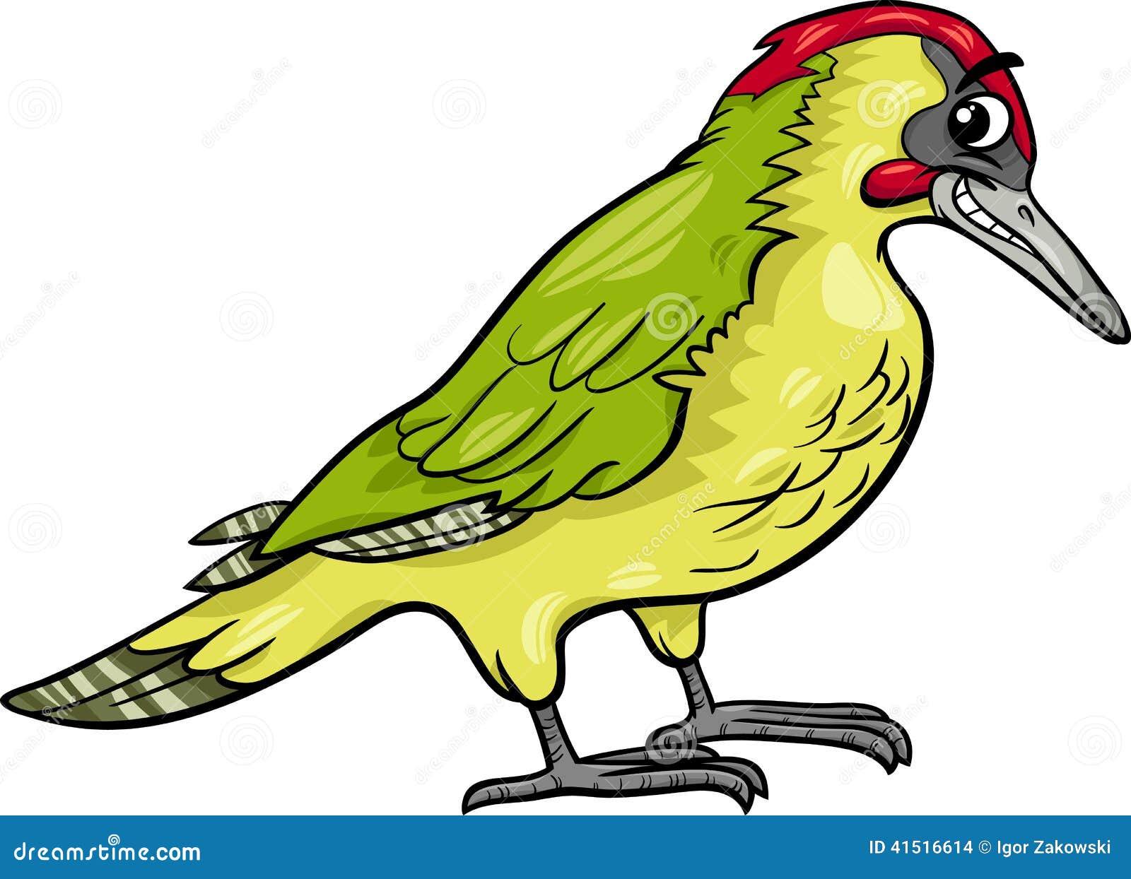 Yaffle Bird Animal Cartoon Illustration Stock Vector ...