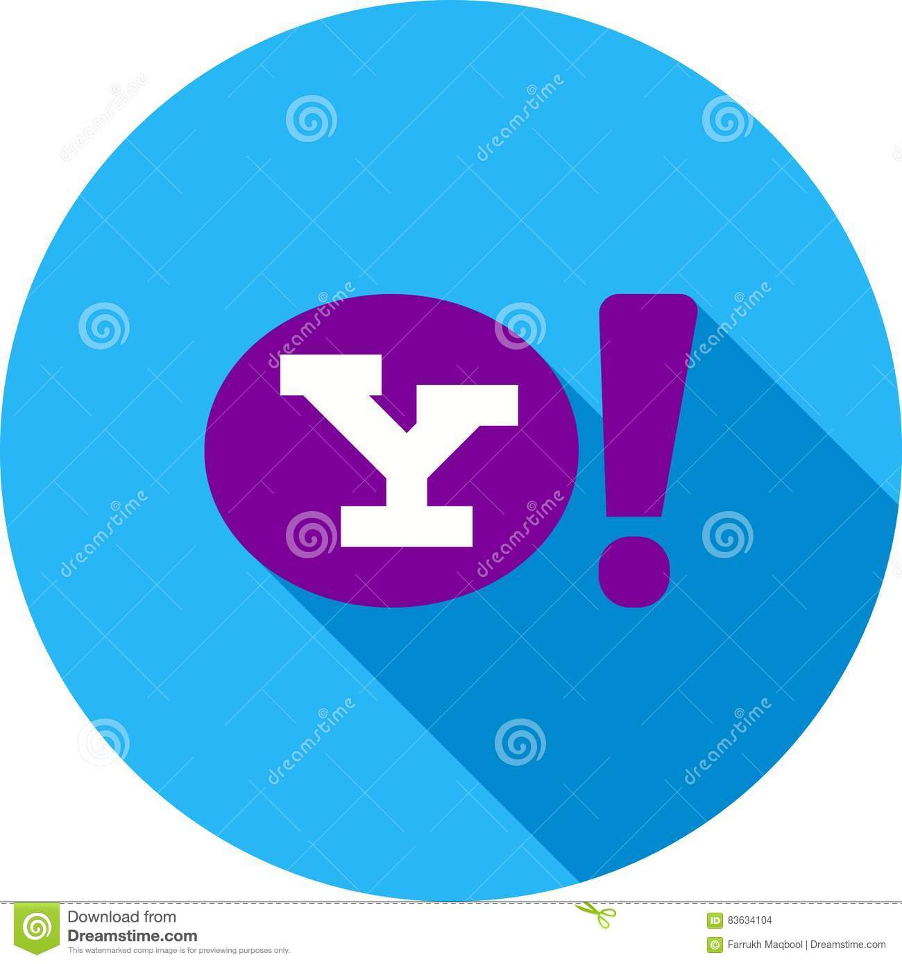 Yahoo Editorial Stock Image Illustration Of Icon Concept 83634104