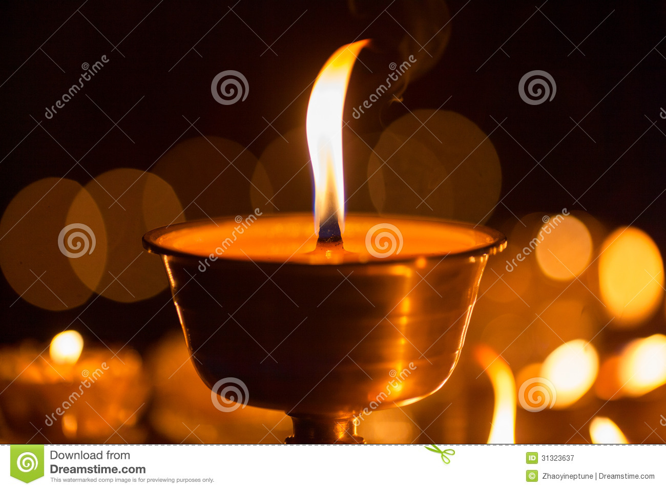 Yak Butter Lamps In Tibet Royalty Free Stock Photography - Image ...