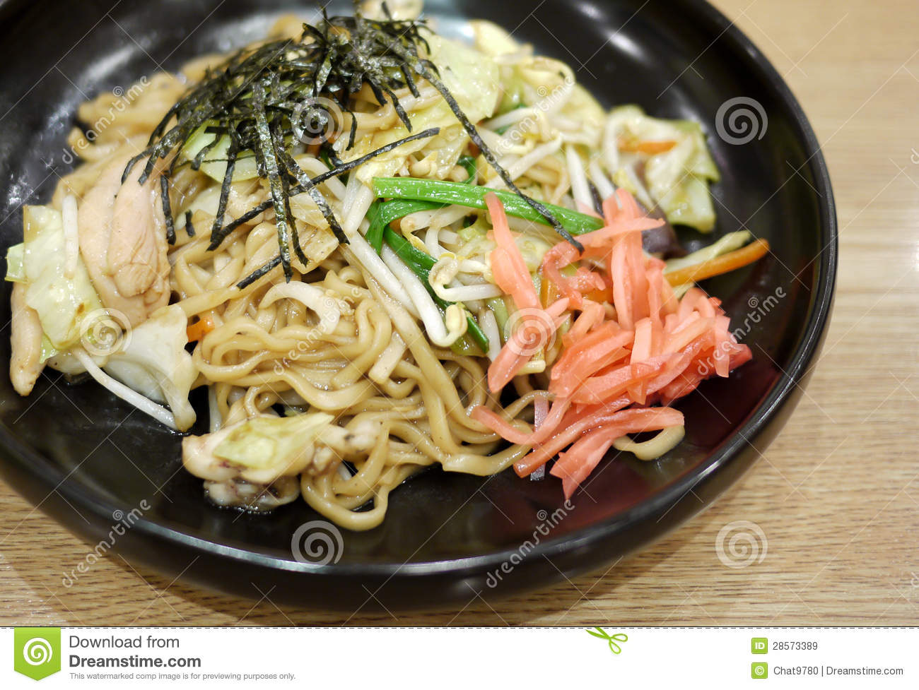 Yakisoba is the japanese style noodle. usually served with marinated ...