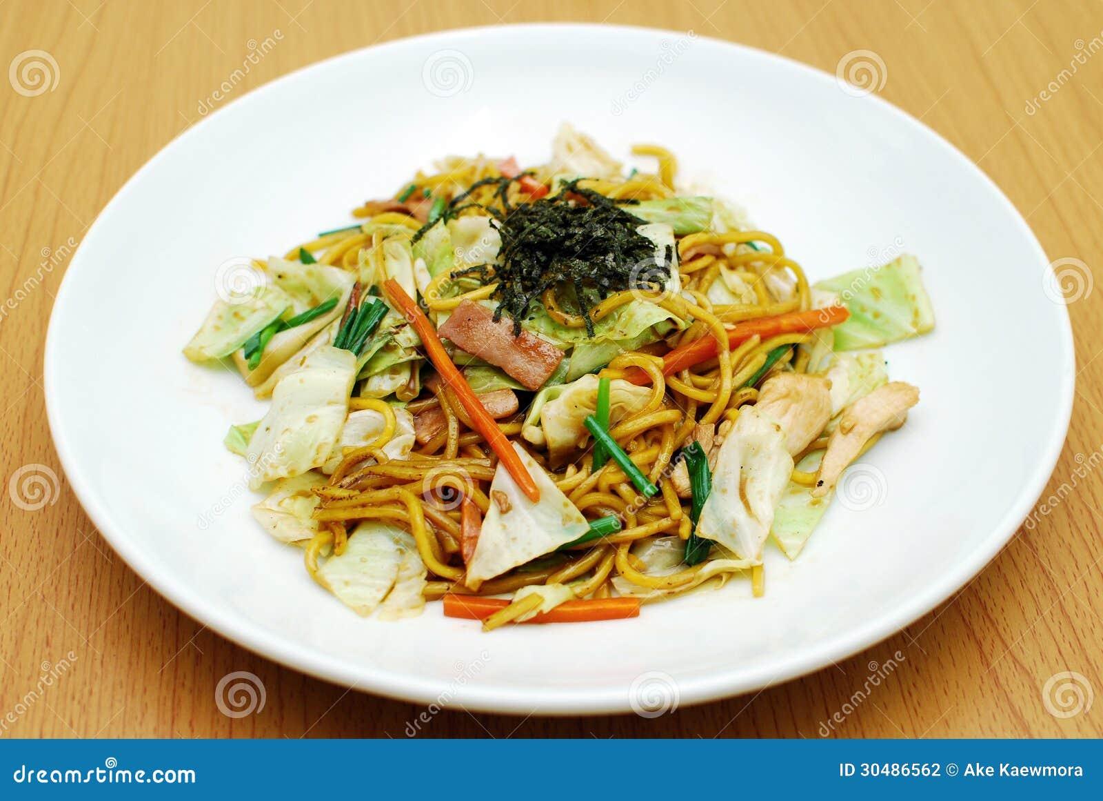 Yakisoba japanese style stir fried noodles.