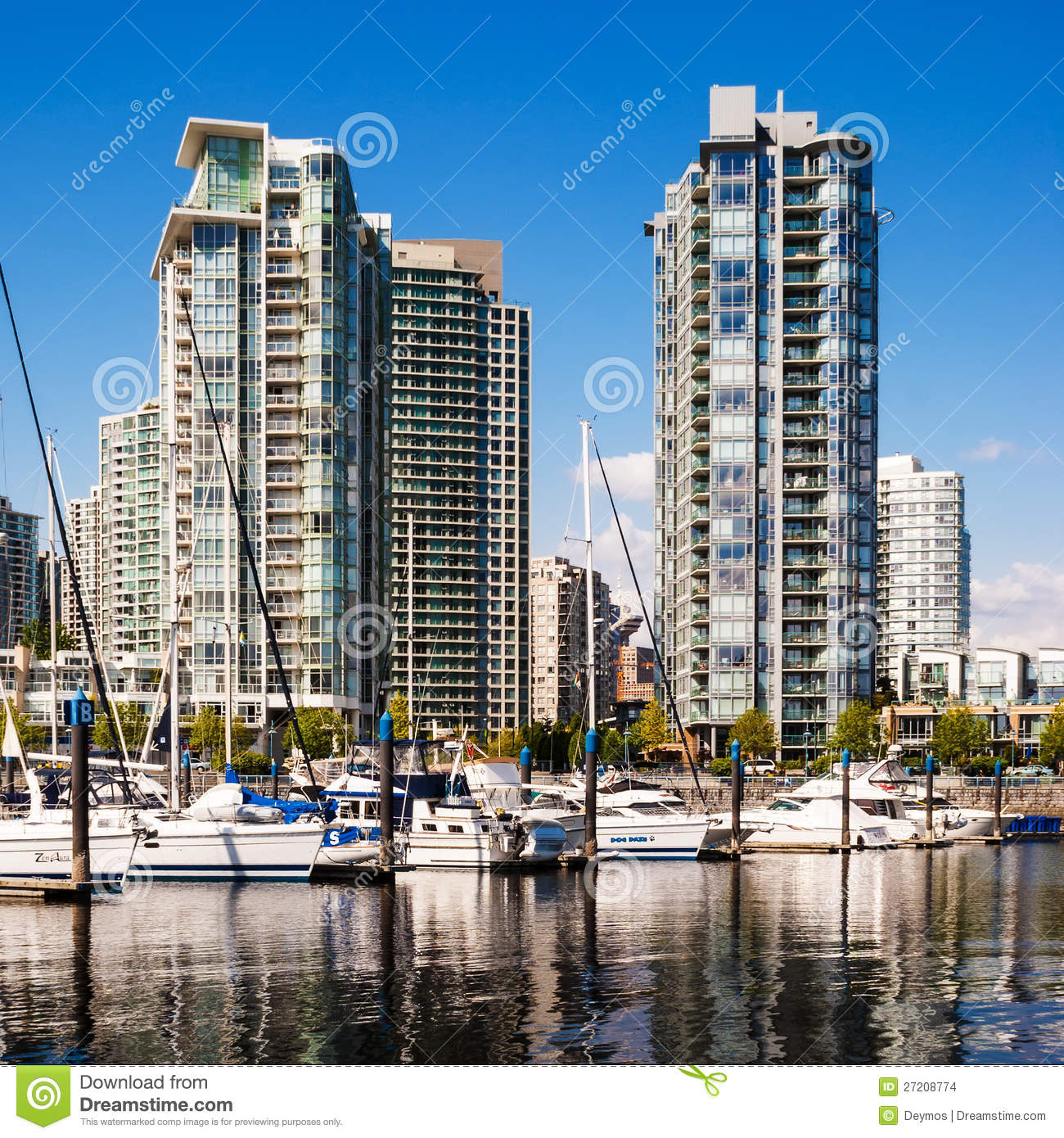 Vancouver Buildings: Yaletown Residential Buildings, Vancouver, Canada