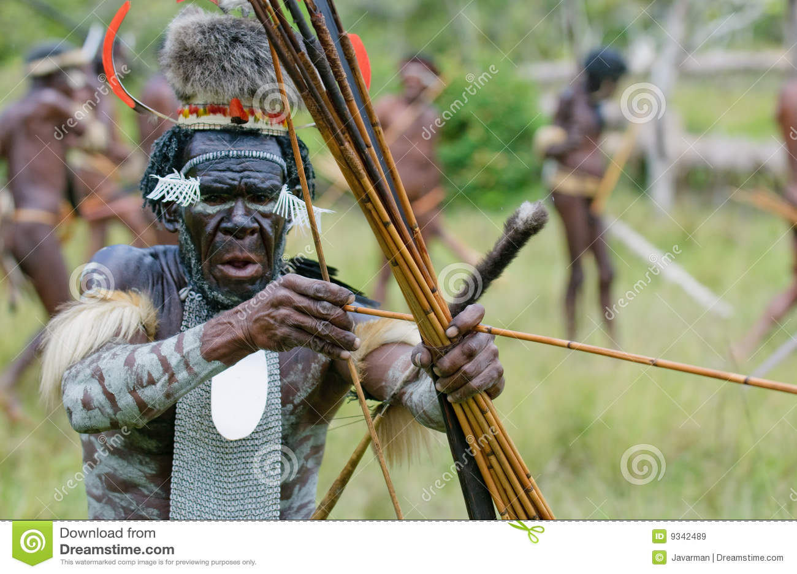 Yali Mabel, capo della tribù di Dani, Papuasia, Indonesia