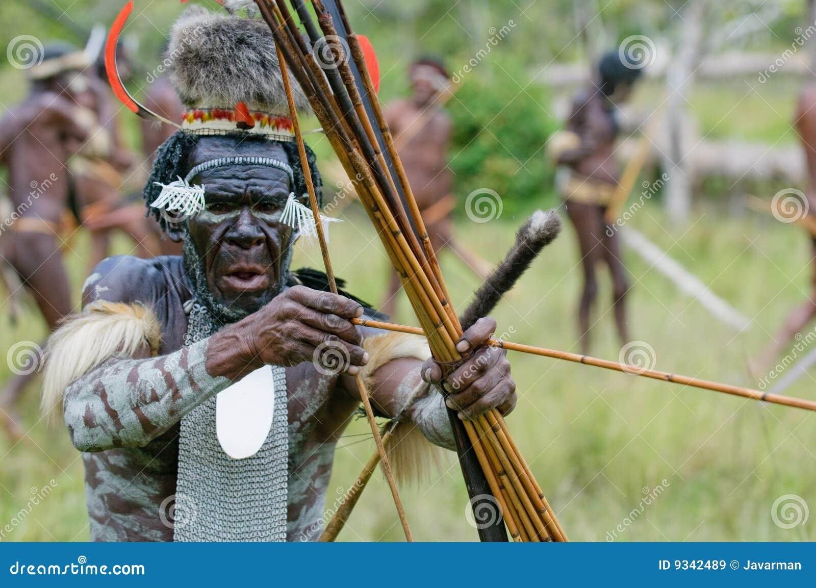 Yali Mabel, chef av den Dani stammen, Papua, Indonesien