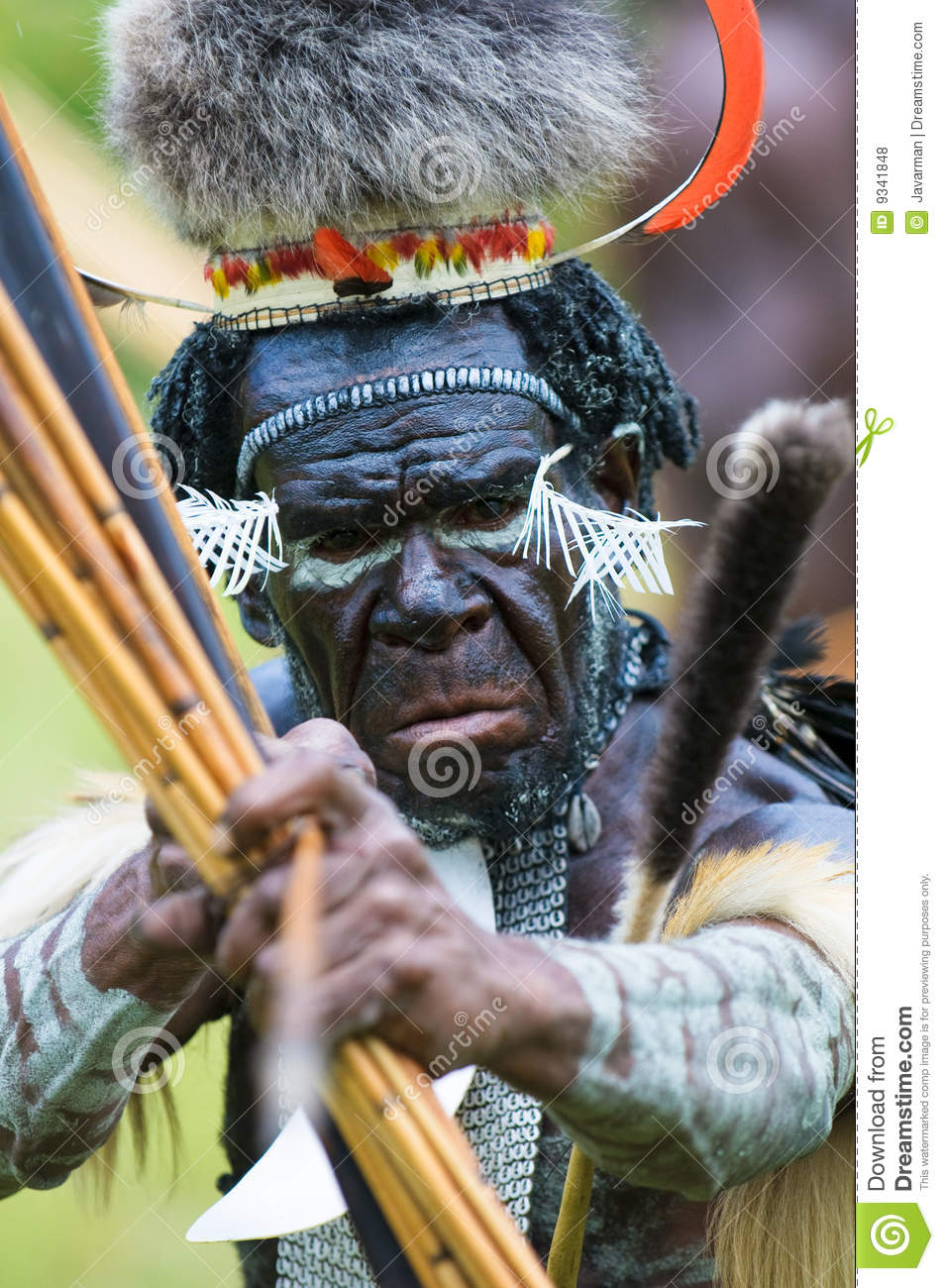 Yali Mabel, chief of Dani tribe, Papua, Indonesia