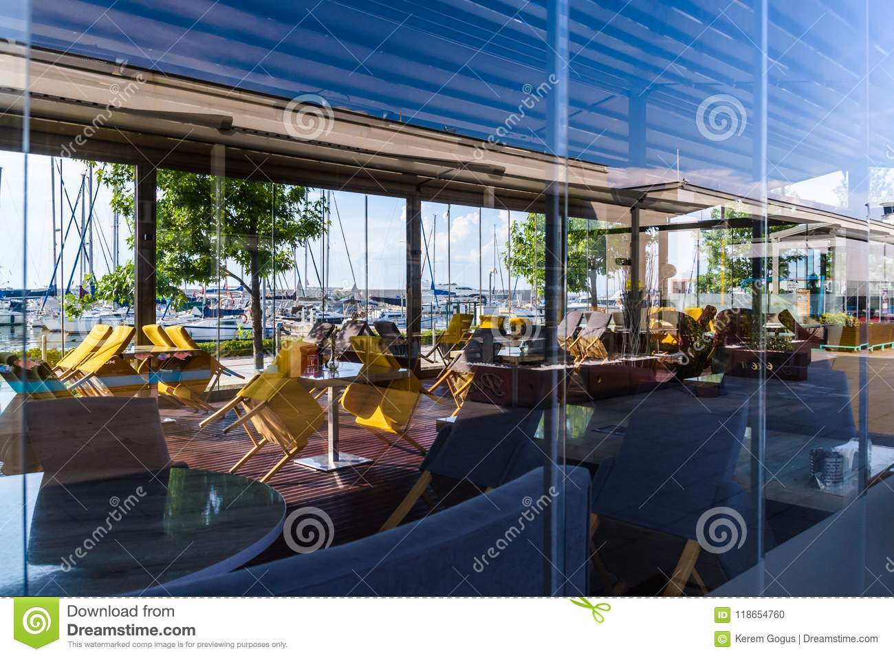Yalova Marina Restaurants And Seaport Of Marmara Turkey