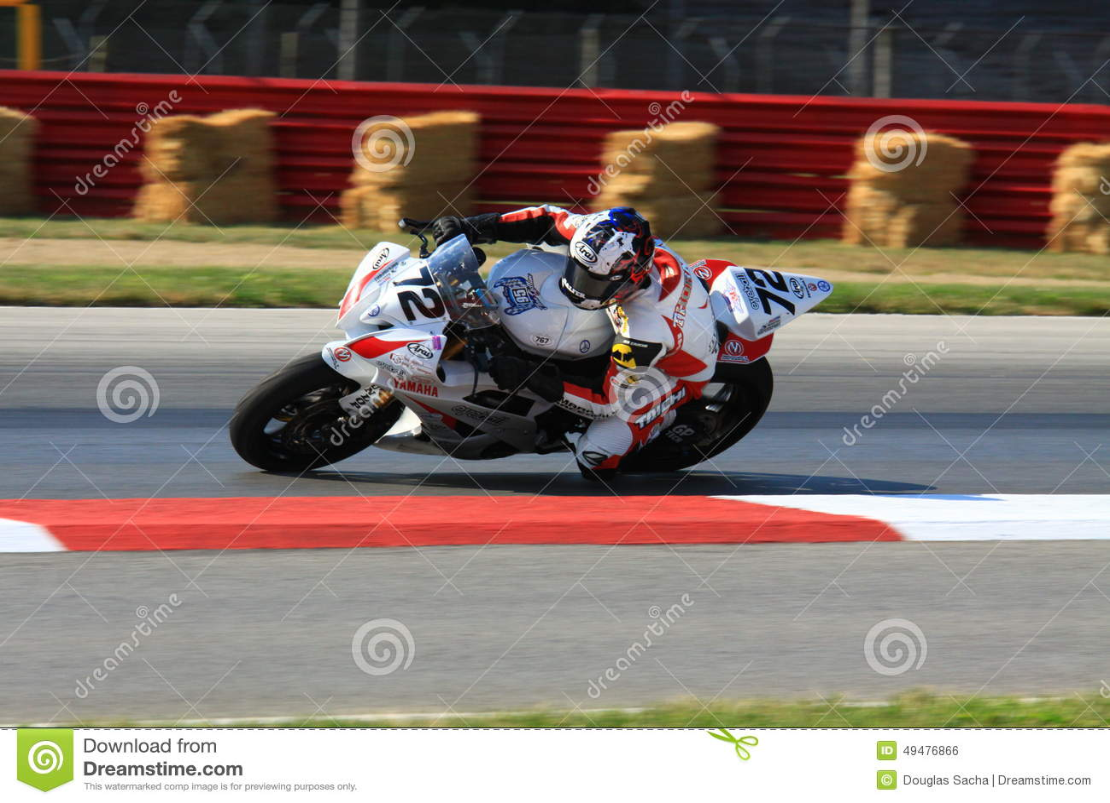Yamaha YZF-R6 race motorcycle